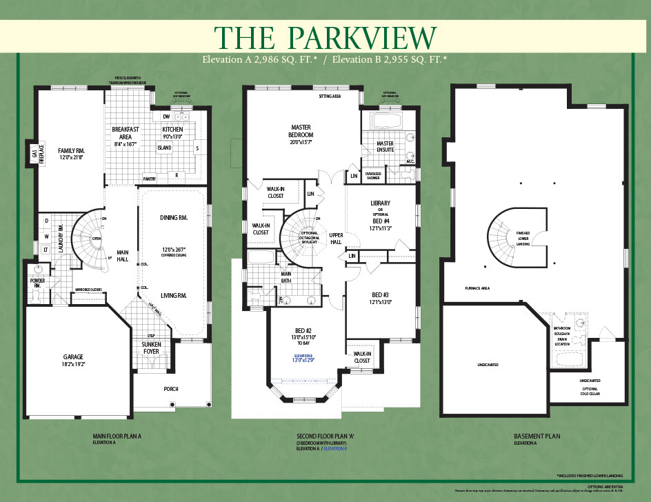 John boddy homes the parkview for Parkview homes floor plans